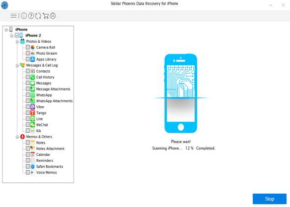 Stellar Data Recovery for iPhone screenshot