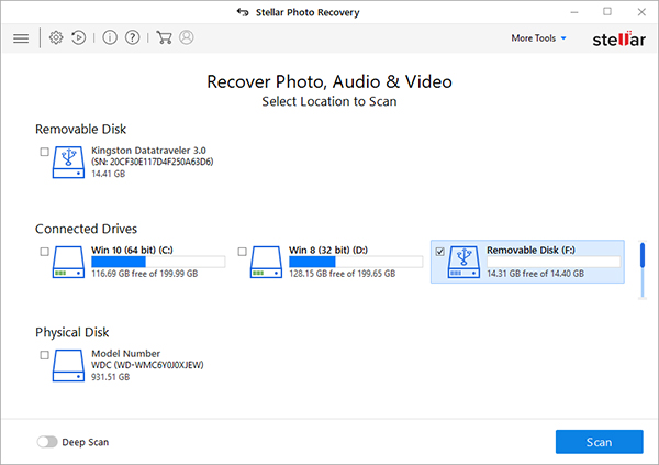 Stellar Photo Recovery screenshot